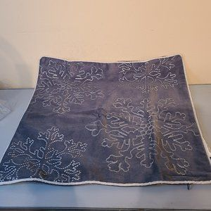 home accents gray snowflake pillow cover